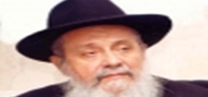 """הרב חכם רפאל אלאשוילי זצ""""ל בדברי תורה – מפטיר לפרשת 'עקב' – 'ותאמר ציון'"""