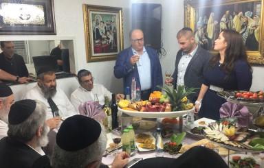מסיבת אירוסין לבת של הרב יעקב גגולאשוילי